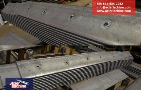 Cornières en acier coupées et trouées | Steel angles cut and drill | Acier Lachine, Montreal, Quebec | www.acierlachine.com | +1-514-634-2252
