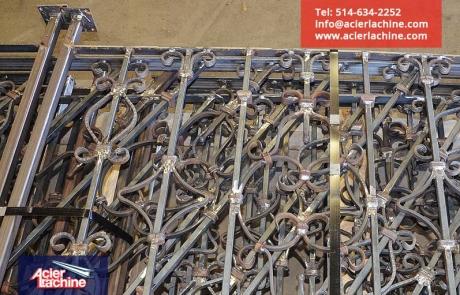 Garde corps acier forgé | Forged steel railing | Acier Lachine, Montreal, Quebec | www.acierlachine.com | +1-514-634-2252