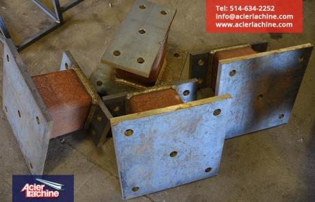 Pilier en acier | Steel pillar | Acier Lachine, Montreal, Quebec | www.acierlachine.com | +1-514-634-2252