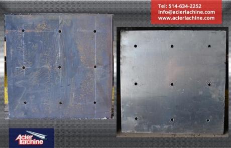 Plaques de drain en acier et aluminium | Steel and aluminum drain plate | Acier Lachine, Montreal, Quebec | www.acierlachine.com | +1-514-634-2252