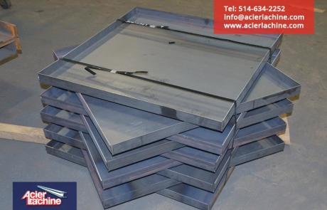 Plateau en acier | Steel pan | Acier Lachine, Montreal, Quebec | www.acierlachine.com | +1-514-634-2252