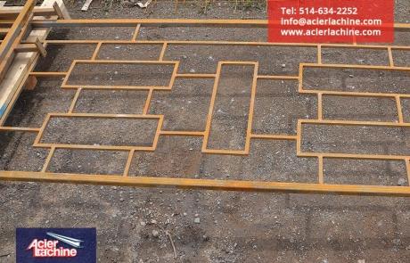 Rampe architecturale en acier | Architectural steel railing | Acier Lachine, Montreal, Quebec | www.acierlachine.com | +1-514-634-2252