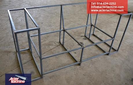 Structure de causeuse en acier | Steel love seat structure | Acier Lachine, Montreal, Quebec | www.acierlachine.com | +1-514-634-2252