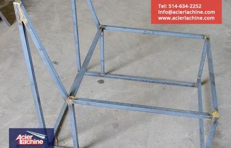Structure de fauteuil en acier | Steel armchair structure | Acier Lachine, Montreal, Quebec | www.acierlachine.com | +1-514-634-2252