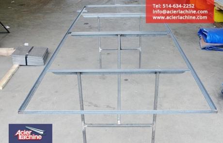 Structure de table en acier | Steel table structure | Acier Lachine, Montreal, Quebec | www.acierlachine.com | +1-514-634-2252