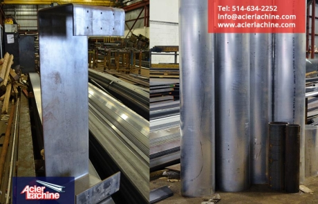 Tubes aluminium pour sculpture - Aluminum tubes for sculpture | Acier Lachine, Montreal, Quebec | www.acierlachine.com | +1-514-634-2252
