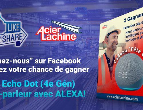 «Aimez & Partagez» Acier Lachine sur Facebook – 2021!